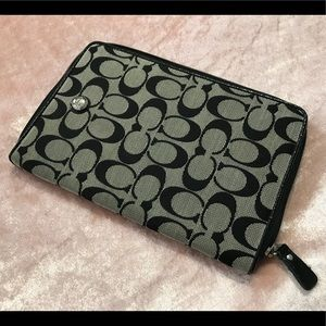 🔥 Coach Mini iPad Case Black and Grey